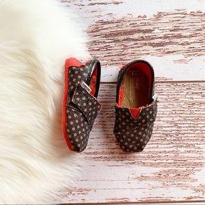 TOMS Polka Dot Sparkle Shoes T5